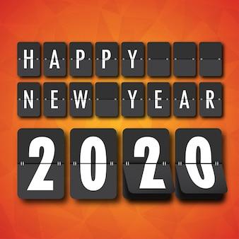 Felice anno nuovo 2020. biglietto di auguri.
