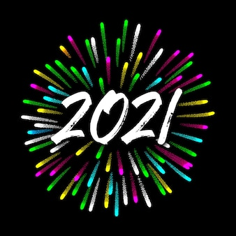 Felice anno nuovo 2020 con fuochi d'artificio