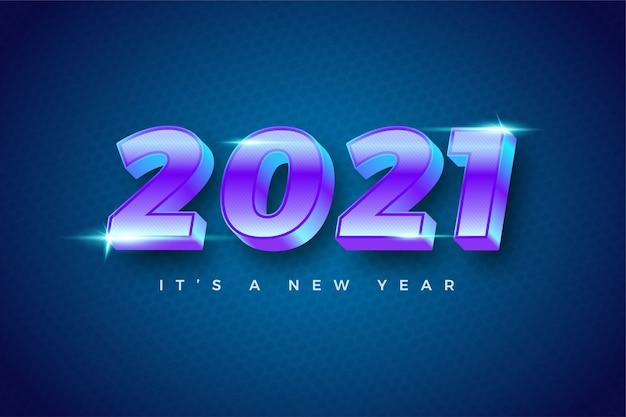 Felice anno nuovo 2021 modello colorato gradiente per il calendario
