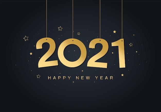 Cartolina d'auguri di felice anno nuovo 2021