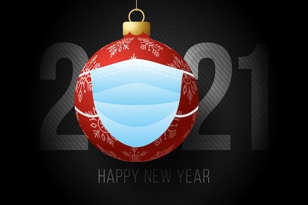 Felice anno nuovo 2021 illustrazione