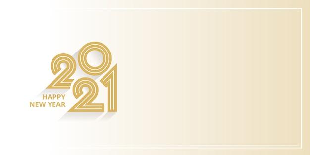 Felice anno nuovo 2021 banner modello