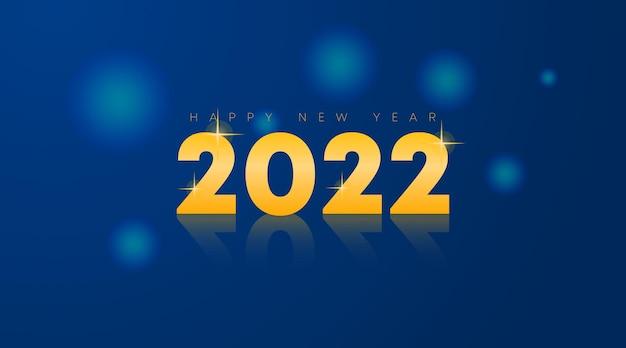 Illustrazione del fondo del buon anno 2022. felice anno nuovo banner web e volantino
