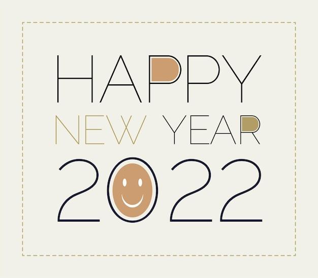 Felice anno nuovo 2022 o capodanno 2022 o 2022 banner di testo del nuovo anno