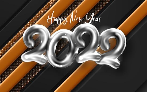 Vettore di poster di felice anno nuovo 2022