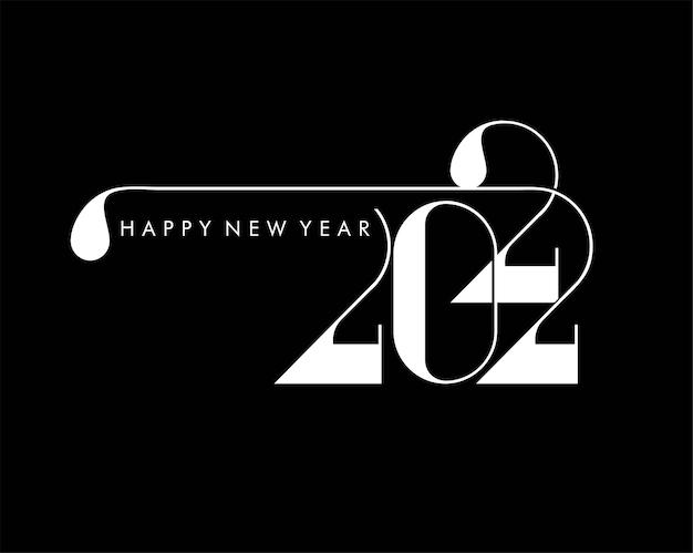 Felice anno nuovo 2022 testo tipografia design patter, illustrazione vettoriale.