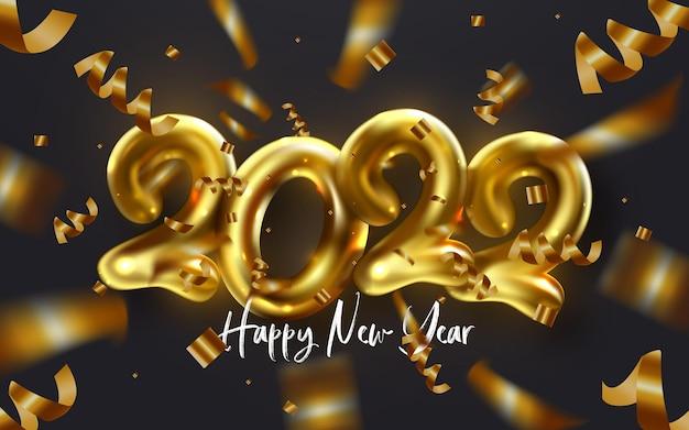 Modello di disegno di biglietto di auguri per le vacanze invernali di felice anno nuovo 2022