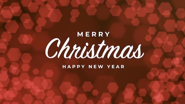 Felice anno nuovo astratto glitter rosso luce bokeh background