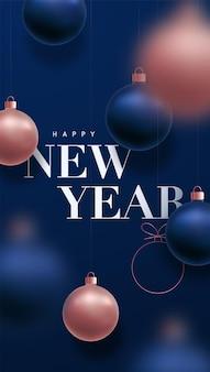Banner di felice anno nuovo