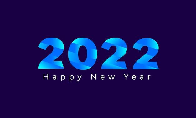 Felice anno nuovo calendario intestazione 2022 biglietto di auguri modello di sfondo