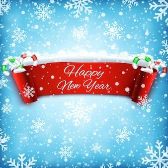 Sfondo di celebrazione di felice anno nuovo