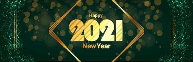 Bandiera di celebrazione di felice anno nuovo
