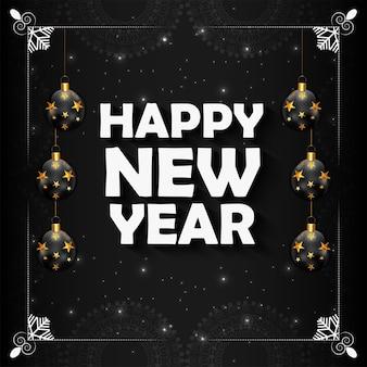 Cartolina d'auguri di felice anno nuovo