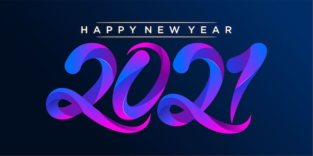 Felice anno nuovo illustrazione colorata