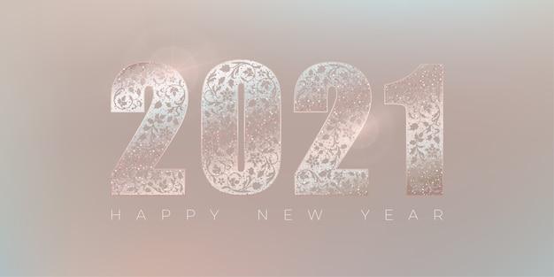 Felice anno nuovo design.shine numeri ornamentali