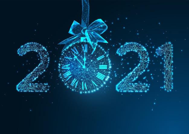 Felice anno nuovo modello di banner web digitale