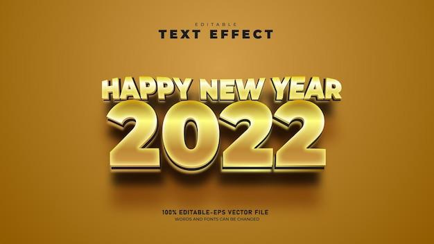 Modello di effetto testo 3d modificabile di felice anno nuovo