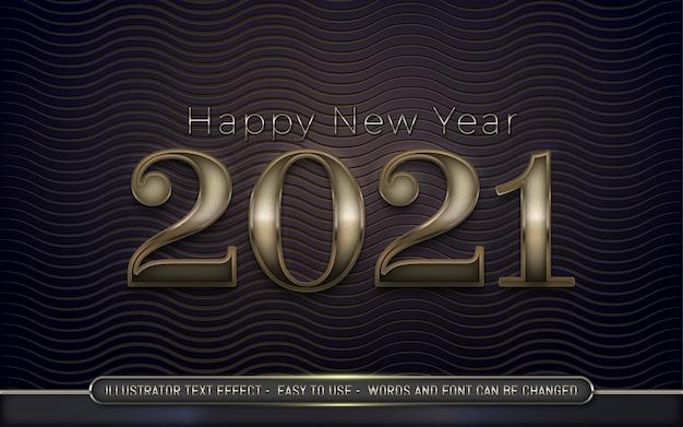 Felice anno nuovo - stile di effetto di testo modificabile