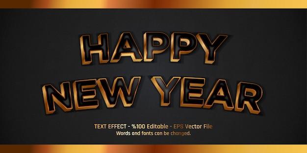Felice anno nuovo effetto testo modificabile