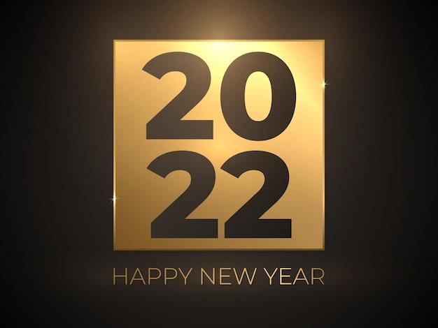 Felice anno nuovo elegante testo oro su sfondo nero sfumato di lusso