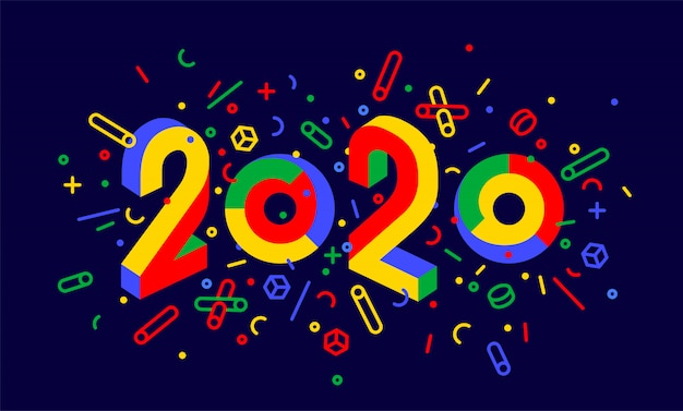 Felice anno nuovo. cartolina d'auguri di felice anno nuovo