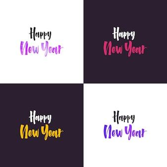 Iscrizione della mano di felice anno nuovo