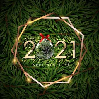Felice anno nuovo sfondo vacanze