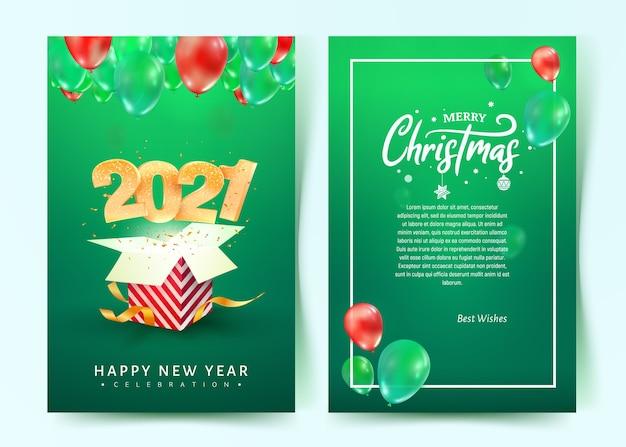 Scheda dell'invito di felice anno nuovo buon natale