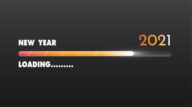 Barra di caricamento di felice anno nuovo