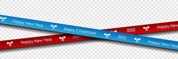 Cartolina d'auguri realistica di felice anno nuovo e buon natale con palline di natale