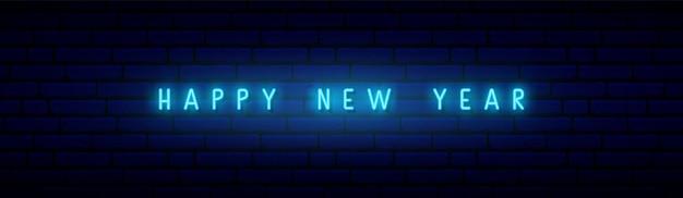 Insegna al neon di felice anno nuovo