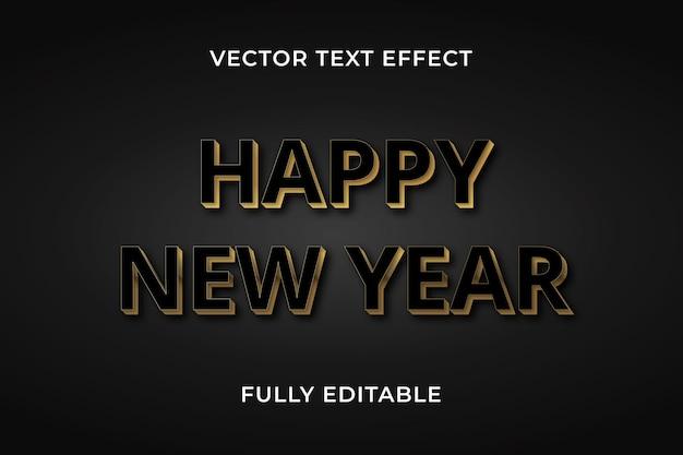 Felice anno nuovo effetto testo photoshop