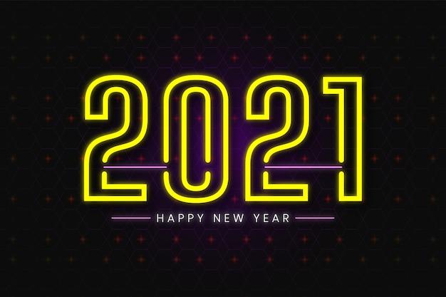 Carta da parati felice anno nuovo - sfondo al neon
