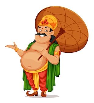 Buon festival di onam in kerala. re mahabali