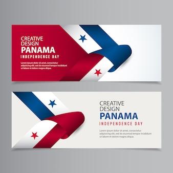 Illustrazione creativa del modello di progettazione di festa dell'indipendenza felice di panama
