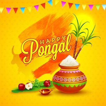 Happy pongal card