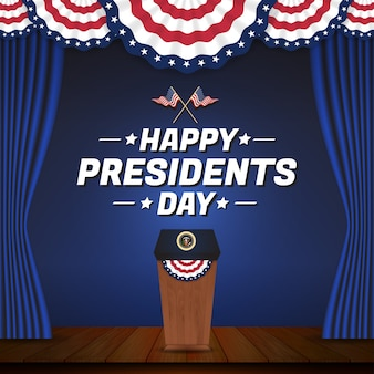 Happy president's banner