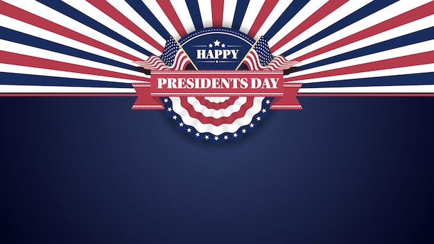 Happy presiidents day banner sfondo e cartoline d'auguri