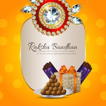 Felice sfondo raksha bandhan