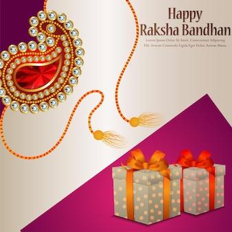 Fondo felice di celebrazione di raksha bandhan