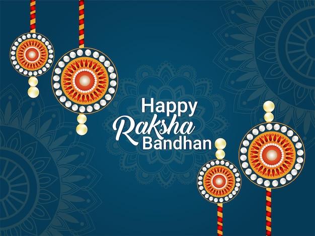 Felice raksha bandhan festival del legame tra fratello e sorella