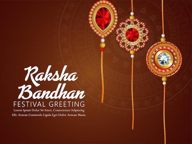 Fondo felice di festival indiano di raksha bandhan con l'illustrazione creativa