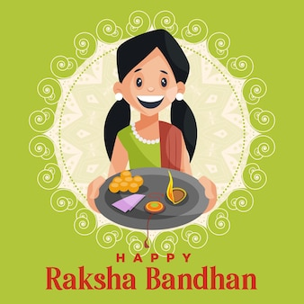 Felice modello di progettazione banner festival indiano raksha bandhan