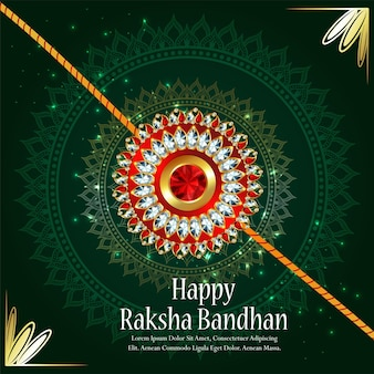 Felice festa indiana raksha bandhan