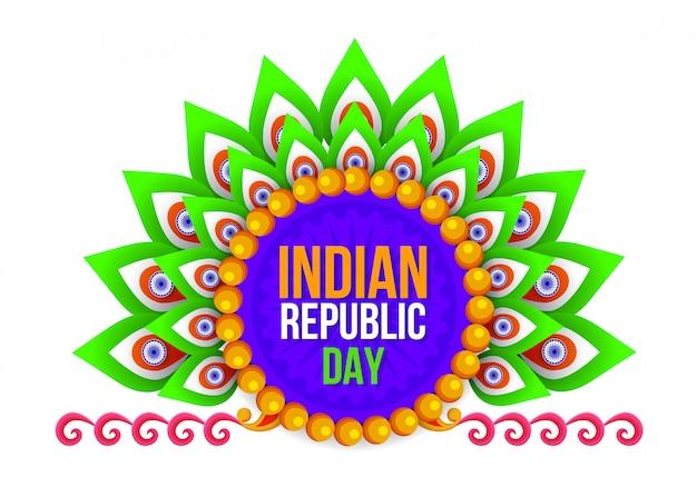 Festa della repubblica felice festival indiano