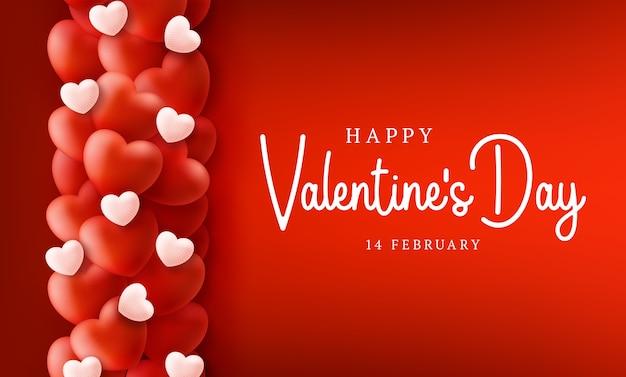 San valentino felice e sicuro con cuore di palloncini