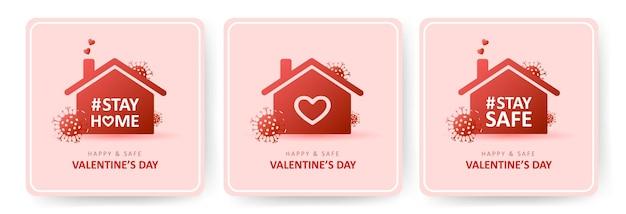 San valentino felice e sicuro. coronavirus e vacanze.