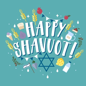 Shavuot felice in ebraico