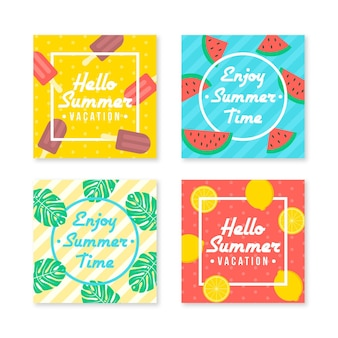 Raccolta di post instagram felice estate