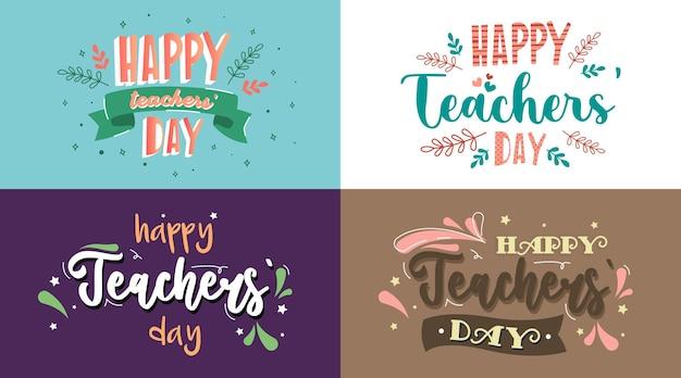 Vettore felice dell'illustrazione della priorità bassa del giorno degli insegnanti